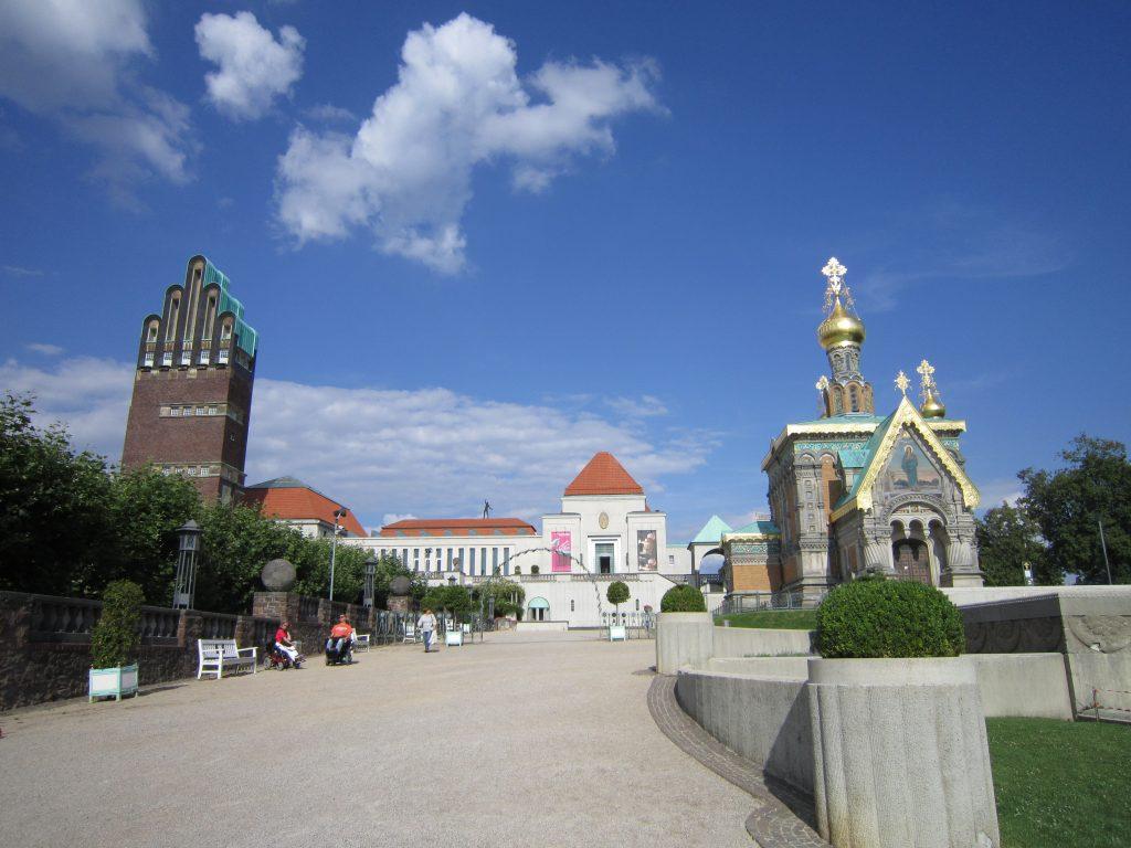 Ausflugsziel in Darmstadt: die Mathildenhöhe