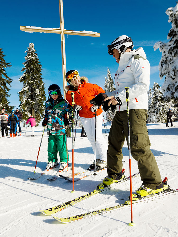 Skifahren für die ganze Familie am Almberg, Mitterdorf