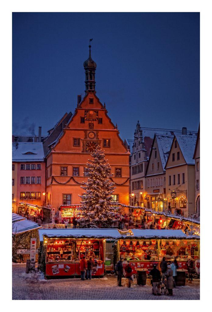 weltbekannt: Weihnachtsmarkt in Rothenburg ob der Tauber