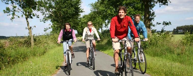 Radfahren durch die emsländische Landschaft