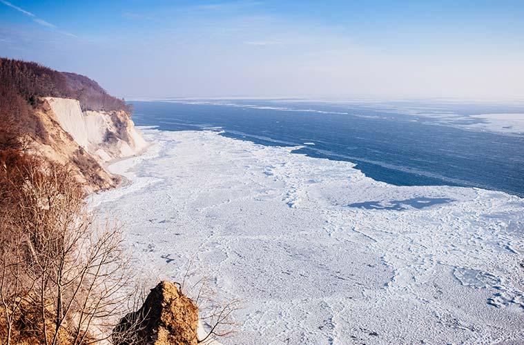 Die Kreideküste im Nationalpark Jasmund steht unter Naturschutz