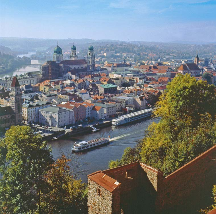 Dreiflüsse-Stadt Passau © Foto: Tourist-Information Passauer Land